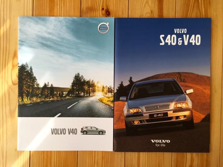 カタログ new V40, old V40 & S40