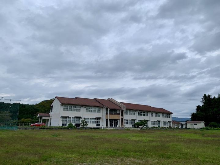 旧田人中学校